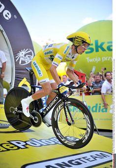 Tour de Pologne 2014 - Stage 7: Kraków - Kraków 25km - Rafal Majka (Tinkoff - Saxo) sets off on the final time trial