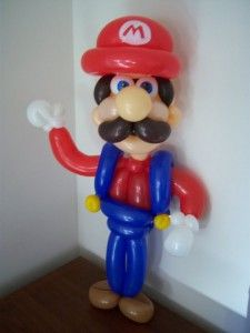 Haha, this made me laugh.  A modelling balloon Mario!