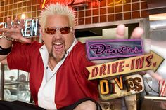 Diners, Drive-ins, Dives is a Food Network show hosted by Guy Fieri. Fieri travels around the U. seeking the best of the best in Diners, drive-ins, and dive bars. Most watched show on our telly Food Network Tv Shows, Food Network Recipes, Chef Guy Fieri, Instant Pot, Phoenix Restaurants, Memphis Restaurants, Tv Times, Great Tv Shows, Food Shows