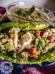 Chicken and Quinoa Salad with Roasted Peppers - Deja Vue Designs