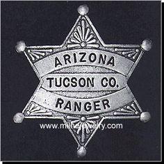 old texas ranger badge   Arizona Ranger Wild West Law Enforcement Badges. These replica badges ...