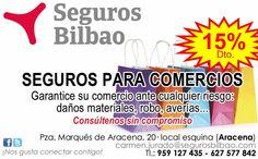 https://www.facebook.com/segurosbilbaoaracena/posts/1028426847214249 ¡Ahora un 15% de descuento en tu Seguro del Comercio! Con Seguros Bilbao ¡APROVECHA LA OFERTA! ________________ SEGUROS BILBAO facebook.com/segurosbilbaoaracena Tfnos. 627 577 842 - 959 127 435 Carmen Jurado Corpas carmen.jurado@segurosbilbao.com #Aracena ___________________________________________________ ¡Síguenos también en nuestra Propia Red Social! http://redsocial.globalum.es/grupos/seguros-bilbao/