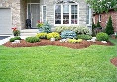 Information about front yard landscaping ideas, simple design for low maintenance garden and house flower small beds landscape with pictures #LandscapeShrubs