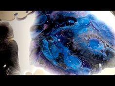 YouTube Acrylic Painting Techniques, Acrylic Paintings, Fluid Acrylics, Pour Painting, Acrylic Pouring, Galaxy, Art Tutorials, Art Lessons, Amethyst