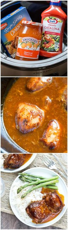 Slow Cooker Apricot Chicken. 3 pantry ingredients to make this sweet and tangy sauce!