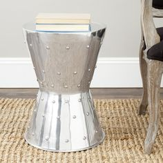 Safavieh Thorium Silver Rivet Stool   Overstock™ Shopping - Great Deals on Safavieh Coffee, Sofa & End Tables