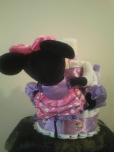 Minnie Mouse diaper cake - back view