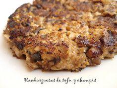 Cocinax2. Las recetas de Laurita.: Hamburguesas vegetarianas de tofu y champis (paso a paso)