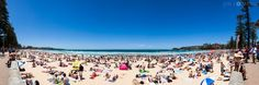 A packed Manly Beach on the first day of 2012. #manlybeach #sydneybeaches #sydney