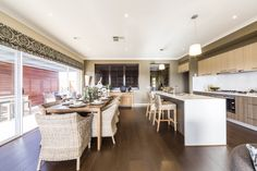 Leon - Simonds Homes Simonds Homes, Beautiful Space, Colour Schemes, Kitchens, Houses, Dining, Interior Design, Table, Inspiration