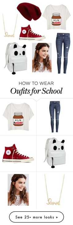 """Back to school chic"" by hannaha0403 on Polyvore featuring Converse, H&M, Sole Society, Sydney Evan and Regal Rose"