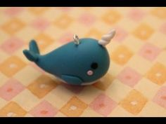 Today I'm going to show you how to make your very own narwhal out of polymer clay! Crea Fimo, Polymer Clay Kunst, Cute Polymer Clay, Polymer Clay Animals, Cute Clay, Fimo Clay, Polymer Clay Projects, Polymer Clay Charms, Polymer Clay Creations