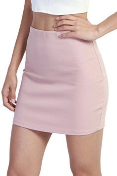 TheMogan Basic Sexy Stretch Knit High Waisted Bodycon Mini Skirt #skirts #bodycon Overall Skirt, Lilac Grey, Ankle Strap Shoes, Street Style Women, Denim Skirt, Looks Great, Mini Skirts, Crop Tops, Knitting