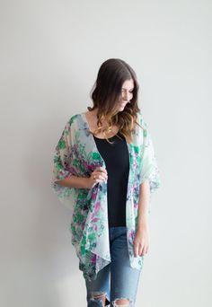 Chiffon Kimono made in Canada Chiffon Kimono, Chiffon Cake, Kimono Top, Swimsuit Cover, We Wear, Summer Wedding, Summer Outfits, How To Make, How To Wear