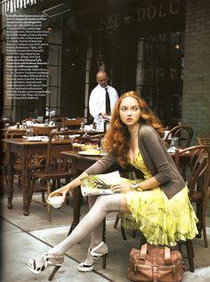 Gemma Cafe Vogue UK photo shoot. #tea