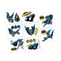 Check out Batman Tattoo Favors - Stickers & Tattoos and Individual Party Supplies from Birthday In A Box