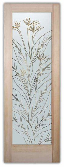 Bird of Paradise Tropical Decor Interior Etched Glass Doors - Our Door designer let's you customize your glass front door or interior glass door! Etched Glass Door, Frosted Glass Door, Glass Etching, Iron Front Door, Glass Front Door, Glass Doors, Front Entry, Single French Door, French Doors