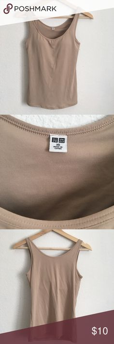 e2e3be173 UNIQLO Nude Padded Tank Top - Uniqlo Nude Padded Tank Top - Size XS  inch  bust - Worn once - Built-in bra - Perfect for layering under light-colored  tops ...