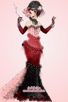 burlesque style by ~ Disney Princess Maker Doll Divine, Burlesque, Dolls, Disney Princess, Anime, Outfits, Design, Women, Style