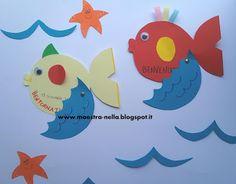 maestra Nella: pesciolini di benvenuto 2 Montessori, Art For Kids, Art Projects, Preschool, Alice, Education, Children, Summer, Craft