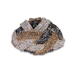 Jewelry Galore - Large Knot Bracelet in Grey & Gold - $77 #jewelry #gold #knot #women #fashion #unique #beautiful #party
