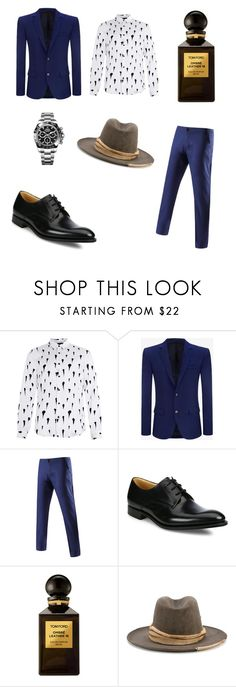 """#new_set_2"" by benelux2 ❤ liked on Polyvore featuring Topman, Alexander McQueen, Church's, Tom Ford, Nick Fouquet, Rolex, men's fashion and menswear"