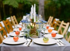 cooking themed table setting