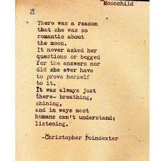 Moon child love poem