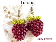 Earrings Beading Pattern Juicy Berries por SimpleBeadPatterns
