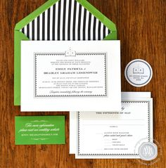 wedding invitations, emerald green - Google Search