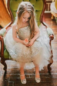 wedding flower girl ideas sequined flower girl dress