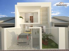 Exterior House Colors Beach 64 New Ideas Duplex Design, Bungalow House Design, House Front Design, Small House Design, Modern House Design, Design Exterior, Exterior House Colors, Home Building Design, Building A House