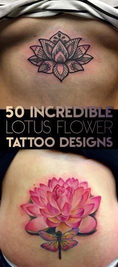 50 Incredible Lotus Flower Tattoo Designs | TattooBlend