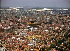 Johannesburg 1960's skyline Pretoria, African History, Old Pictures, South Africa, Landscape Photography, City Photo, Cities, Landscapes, Southern