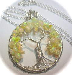Petite Ethiopian Opal and Sterling Silver by Mariesinspiredwire, $100.00