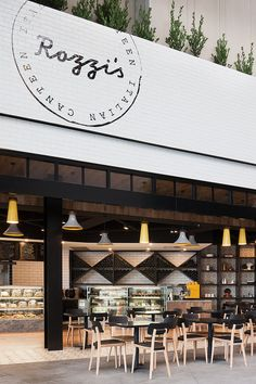 Rozzi's Italian Canteen in Melbourne by Mim Design | Yellowtrace. Nice use of tiles - simple colours.