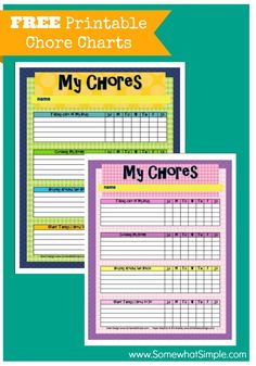 Make your summer run smoother with these free printable chore charts (1 for boys, 1 for girls).