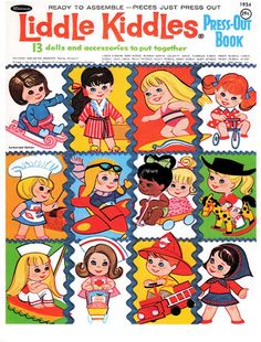 Paper Dolls~Liddle Kiddles Press Out Book - Bonnie Jones - Picasa Web Albums