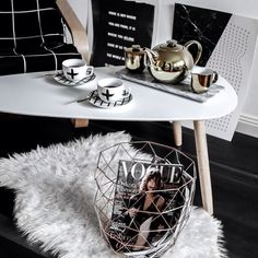 When it's 8 degrees outside put the kettle on and drink copious amounts of tea new tea set from @saltandpepperhome One happy Pomme by bohotailor