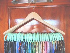 I originally found {this}  idea on pinterest to organize scarfs. (Which is still a fabulous idea, I just have way  too many scarfs!)  My h...