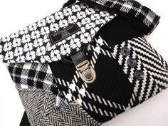You might not give an outdated wool suit a second look, but these trendy bags make the most of discarded suit fabrics, transforming old into something new and fashionable.