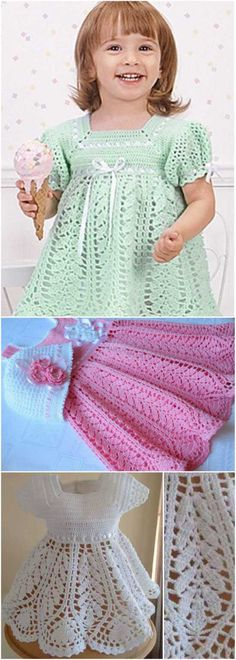 Lotus Dress for a Baby or a Toddler Girl [Free Crochet Pattern] Harvest Baby Girl Dress, Summer Girl Dress