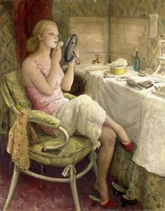 """The Dressing Room"" ~ Dame Laura Knight (1877-1970)"