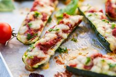 These zucchini pizza boats are a healthy pizza recipe that takes the fattening crust out of your pizza, and replaces it with antioxidant and fiber rich zucchini.