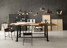 """""""Officina"""" by Il Fanale. Iron indoor suspension lamps and appliques"""