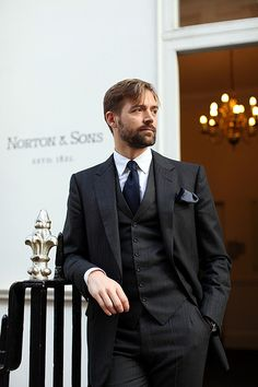3 piece suits.... Shows great taste and class.
