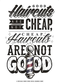 GOOD CUTS – Typography and texture. #barbershop