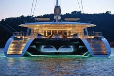 Catamaran Houseboats | The Largest Catamaran in the World Sets Sail. #luxury #boats #yachting