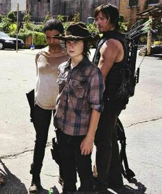 Sasha Carl Daryl - the walking dead