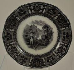 "Flow Black Mulberry ""Peruvian"" Dessert Plate Wedgwood C 1850 | eBay"